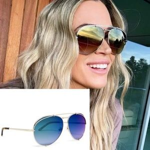 DIFF - NEW KoKo Aviator Sunglasses in Blue & Gold